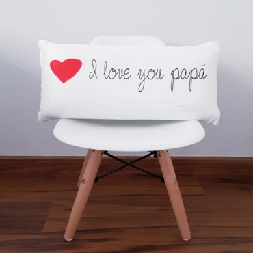 ALMOHADA DÍA DEL PADRE: I LOVE YOU PAPÁ